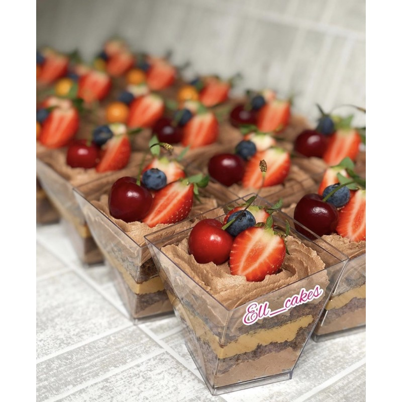 Трайфлы шоколад-карамель